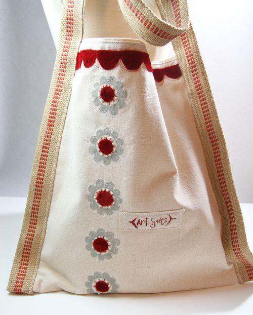 Red velvet tote-014