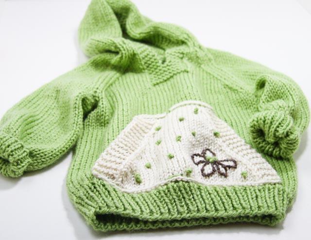 Green sweater-021