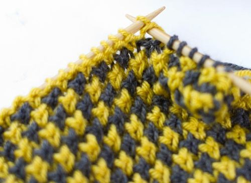 Mustard and Grey Scarf-012