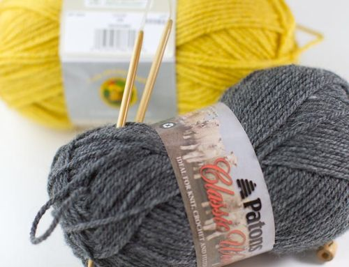 Mustard and Grey Scarf-020