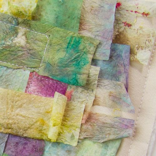 Paper towel art quilts-035