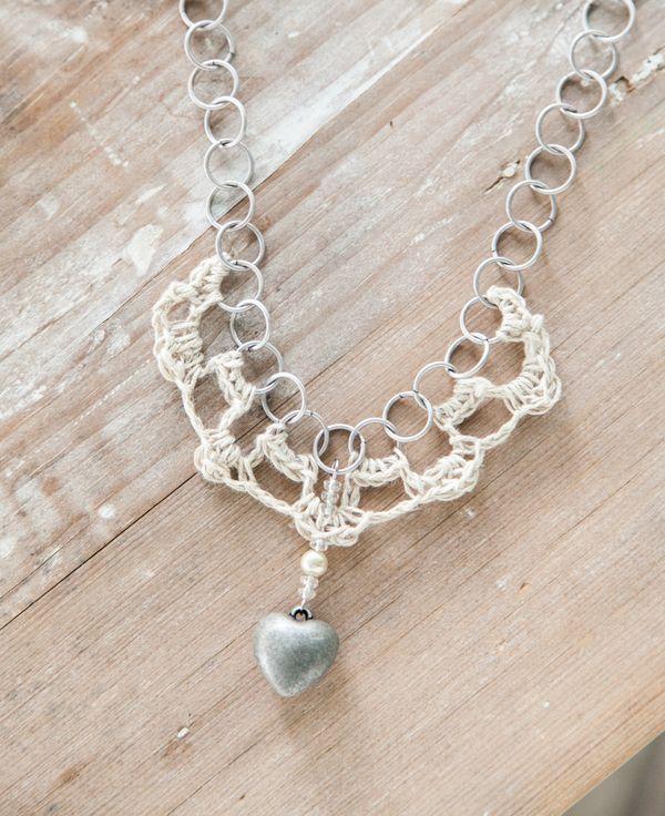 Cynthia Shaffer Crochet Hemp And Chain Necklace Tutorial