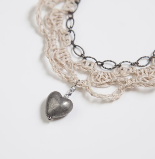 Crochet and Chain Necklace-134