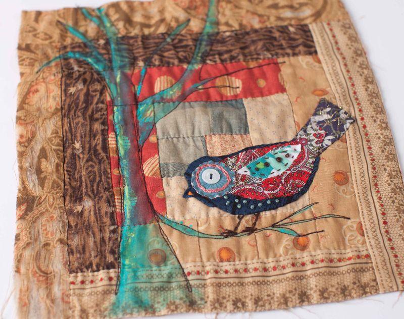 Bird quilt sqaure sample-008