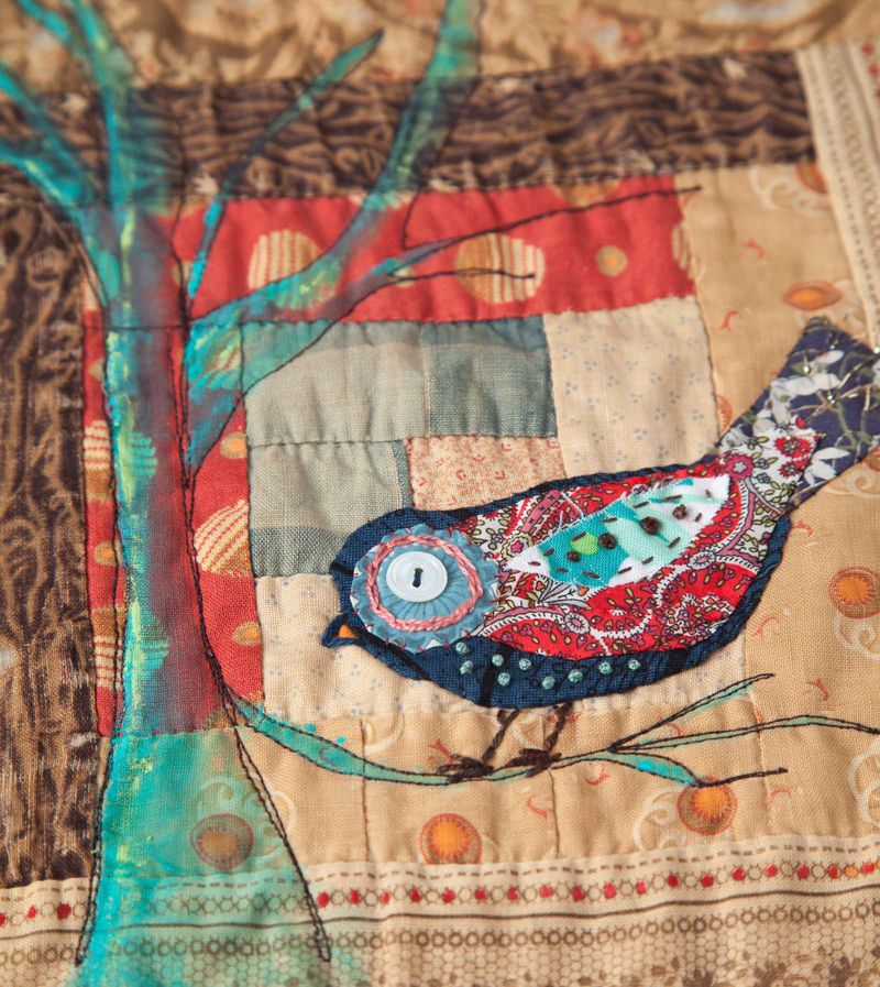 Bird quilt sqaure sample-001